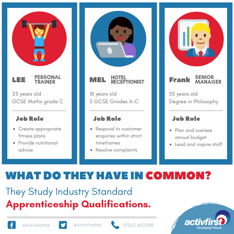 Apprenticeship qualifications combine practical training in a job with study.   Apprenticeships are an accessible way to improve your long term career prospects.